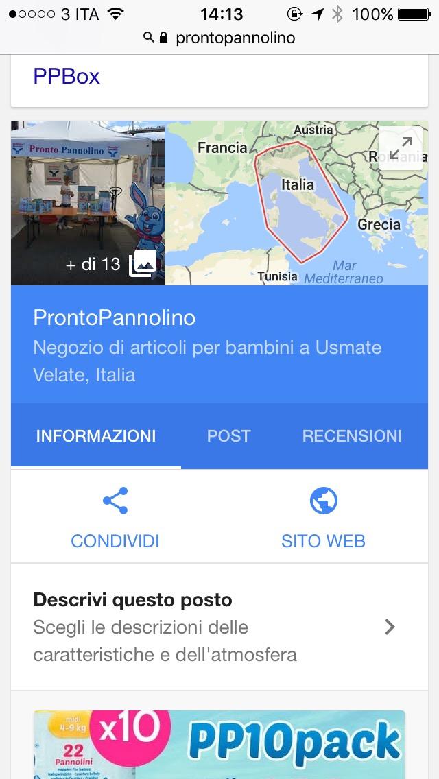 google prontopannolino mobile