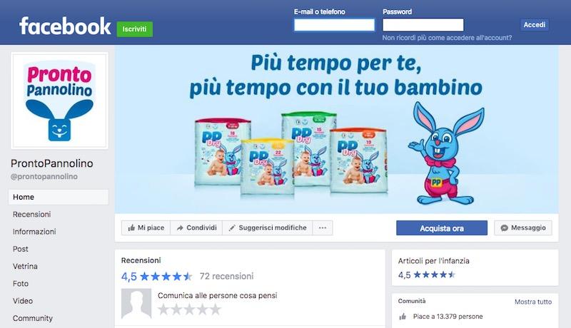 pagina facebook prontopannolino