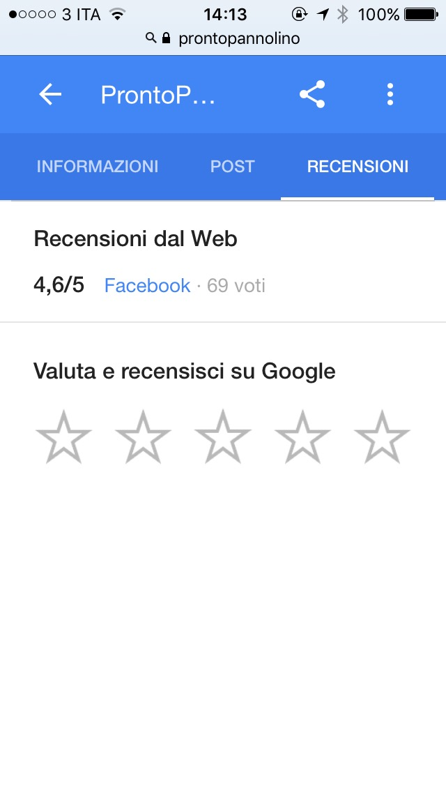 recensioni google prontopannolino mobile